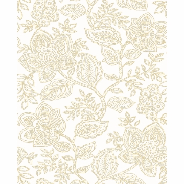 Picture of Larkin Khaki Floral Wallpaper