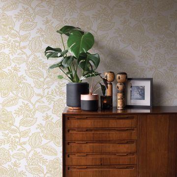 Picture of Larkin Khaki Floral Wallpaper
