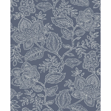 Picture of Larkin Blue Floral Wallpaper