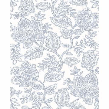 Picture of Larkin Lavender Floral Wallpaper