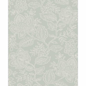 Picture of Larkin Sage Floral Wallpaper