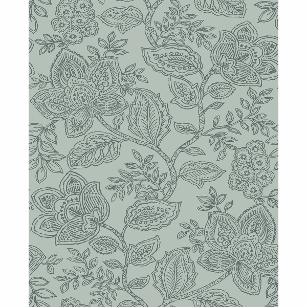 Picture of Larkin Green Floral Wallpaper