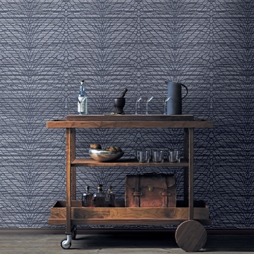 Picture of Aperion Navy Chevron Wallpaper