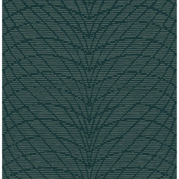 Picture of Aperion Dark Green Chevron Wallpaper