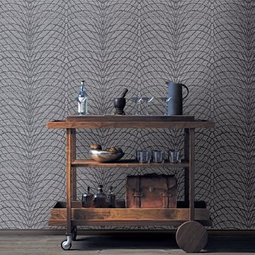 Picture of Aperion Dark Brown Chevron Wallpaper