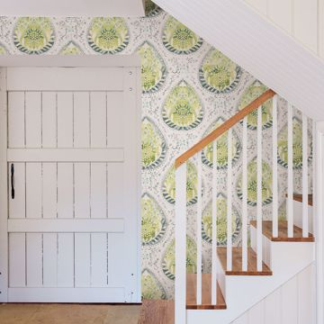 Picture of Alistair Green Medallion Wallpaper