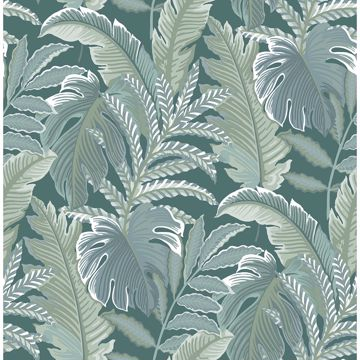 Picture of Verdant Sage Botanical Wallpaper
