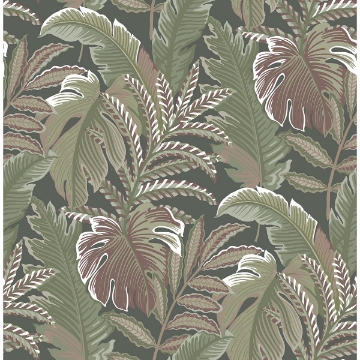 Picture of Verdant Multicolor Botanical Wallpaper