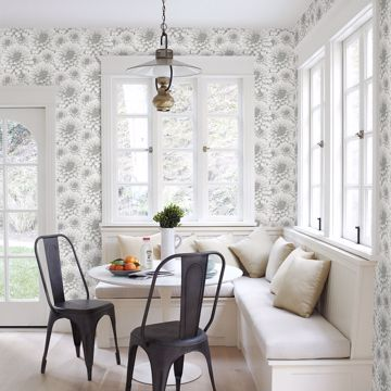 Picture of Umbra Light Grey Floral Wallpaper