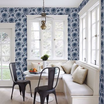Picture of Umbra Indigo Floral Wallpaper