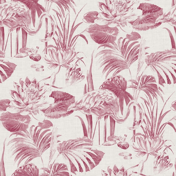Picture of Frolic Magenta Lagoon Wallpaper
