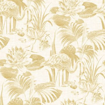 Picture of Frolic Wheat Lagoon Wallpaper