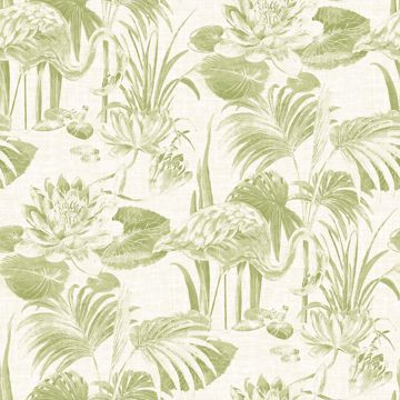 Picture of Frolic Green Lagoon Wallpaper