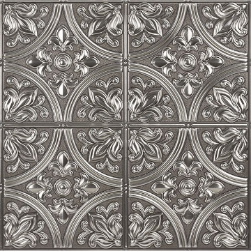 Picture of Chelsea Silver Faux Metallic Tiles Peel and Stick Tiles