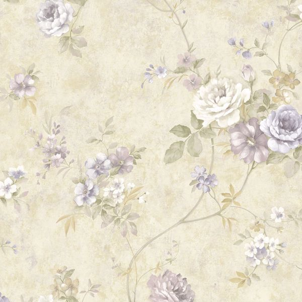 Picture of Arbor Rose Lavender Floral Trail Wallpaper