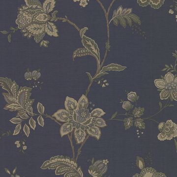 Picture of Quinn Navy Jacobean Trail Wallpaper