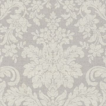 Picture of Birgitta Grey Damask Wallpaper
