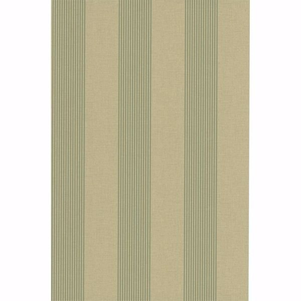 Picture of Christine Brown Alternating Stripe Wallpaper