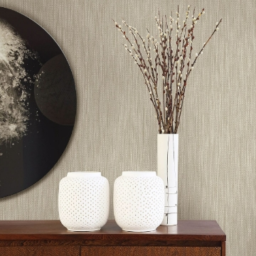 Picture of Chiniile Light Brown Linen Texture Wallpaper