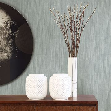 Picture of Chiniile Slate Linen Texture Wallpaper