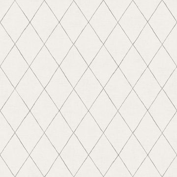 Picture of Rhombus Grey Geometric Wallpaper