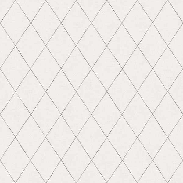 Picture of Rhombus Grey Geometric Wallpaper