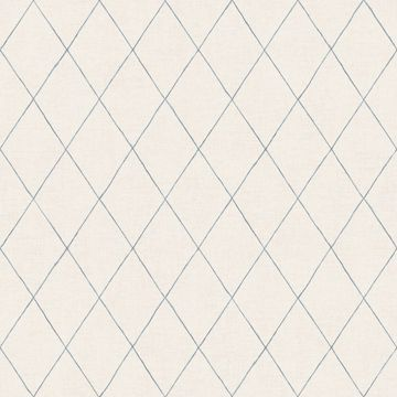 Picture of Rhombus Blue Geometric Wallpaper