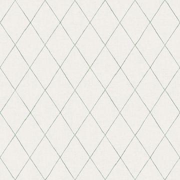 Picture of Rhombus Green Geometric Wallpaper
