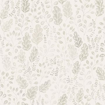 Picture of Isha Beige Leaf Wallpaper