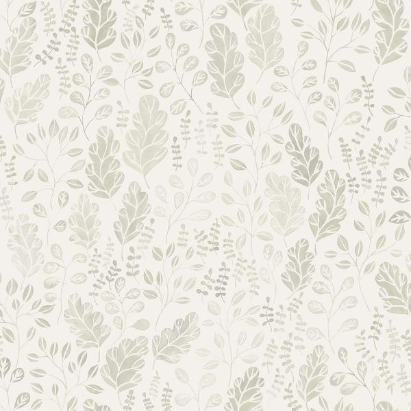 Picture of Isha Beige Leaf Wallpaper