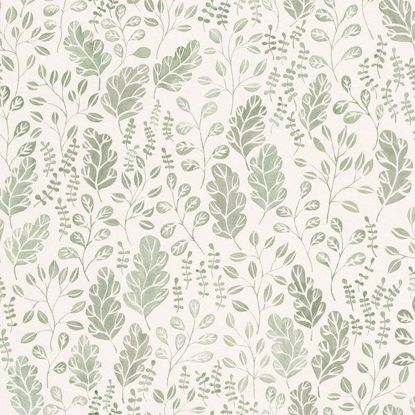 Picture of Isha Green Leaf Wallpaper