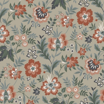 Picture of Athena Beige Floral Wallpaper
