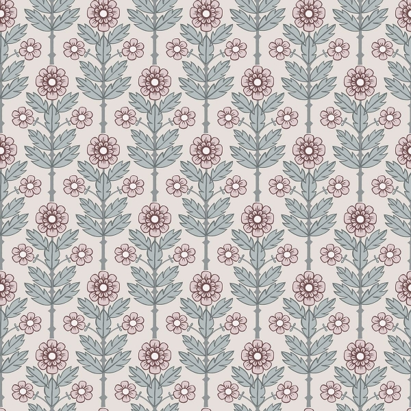 Picture of Aya Eggshell Floral Wallpaper