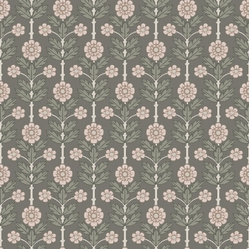 Picture of Aya Grey Floral Wallpaper