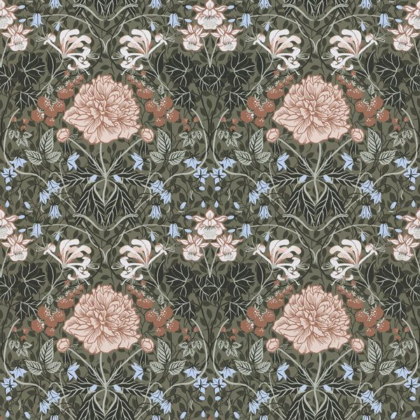 Picture of Celestine Green Floral Wallpaper
