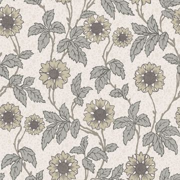Picture of Leilani White Floral Wallpaper