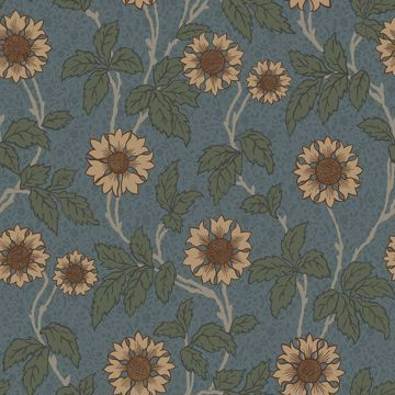 Picture of Leilani Blue Floral Wallpaper