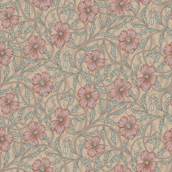 Picture of Imogen Light Brown Floral Wallpaper