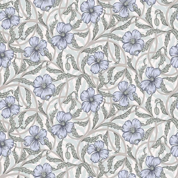 Picture of Imogen Light Blue Floral Wallpaper