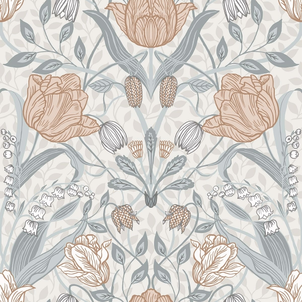 Picture of Tulipa Off-White Floral Wallpaper