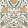 Picture of Tulipa Green Floral Wallpaper