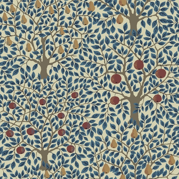 Picture of Pomona Blue Fruit Tree Wallpaper