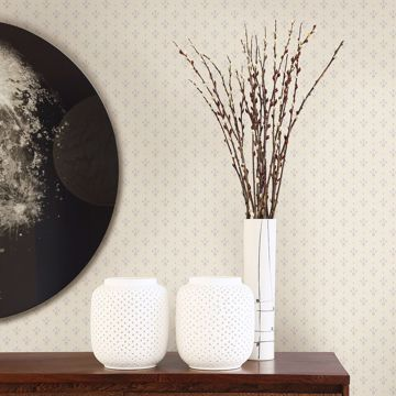 Picture of Lili White Miniature Floral Wallpaper