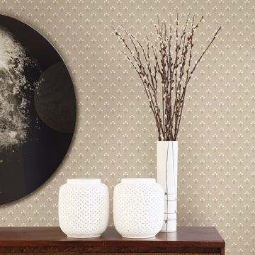Picture of Lili Beige Miniature Floral Wallpaper
