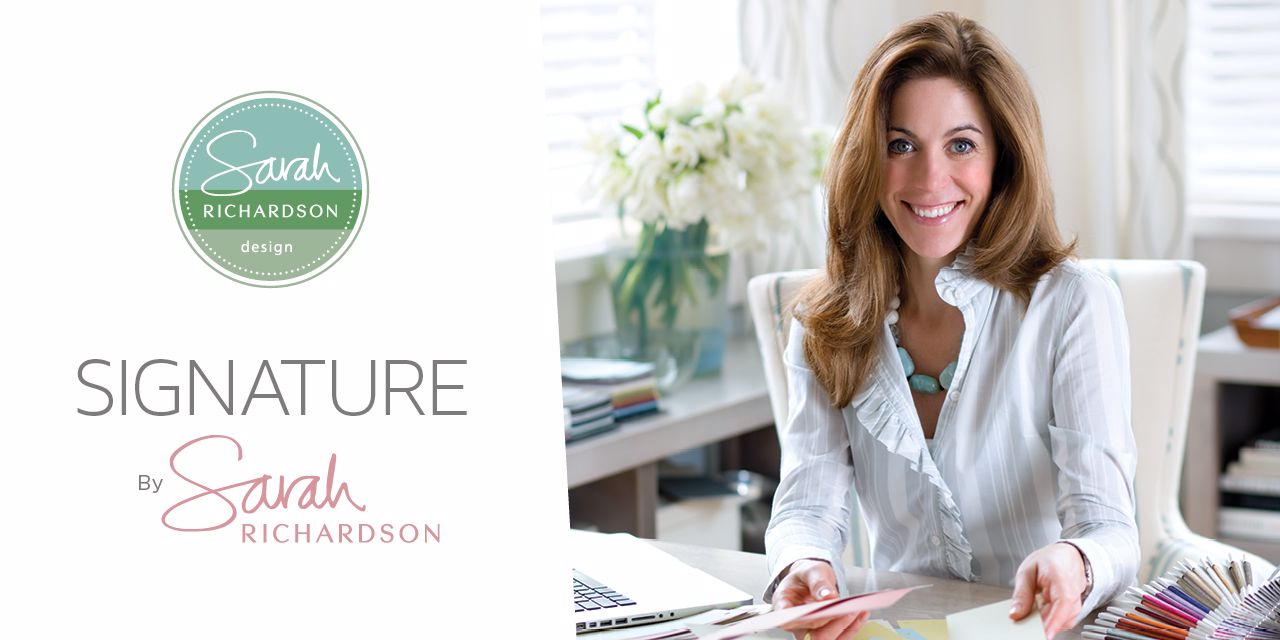 Category Banner Featuring the Sarah Richardson Signature  Wallpaper Collection, Star of HGTV.