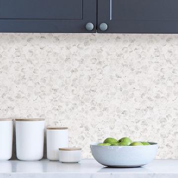 Picture of Venatino Carrara Tile Peel and Stick Backsplash