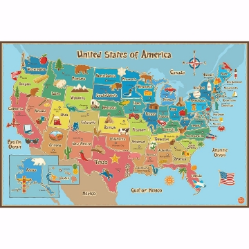 Kids usa Map