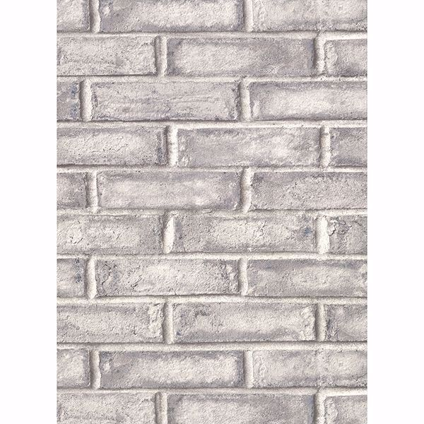 Picture of Appleton Dark Grey Faux Weathered Brick Wallpaper