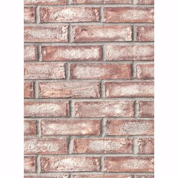 Picture of Appleton Maroon Faux Weathered Brick Wallpaper