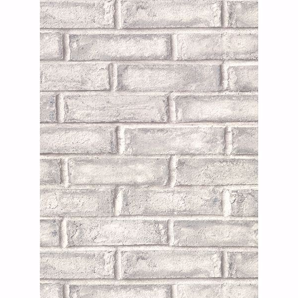 Picture of Appleton Grey Faux Weathered Brick Wallpaper